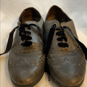 Born Kika Grey Oxford Shoes